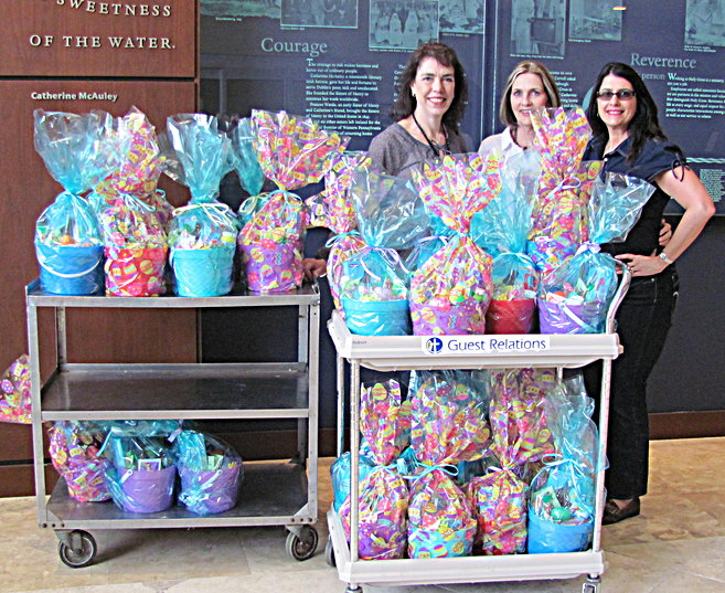 In the spirit of Easter, Zebersky Payne Shaw Lewenz, LLP delivered Easter Baskets to Holy Cross Hospital Children's Outreach Program