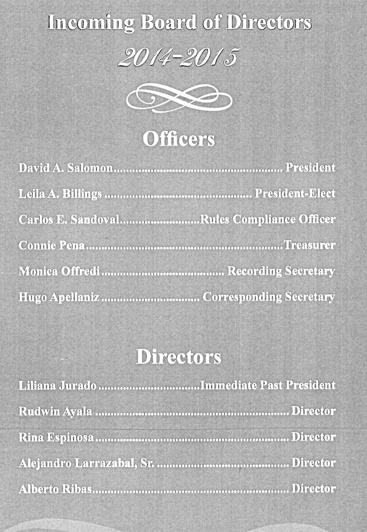 Zebersky Payne Shaw Lewenz, LLP attorney Leila A. Billings BCHBA President-Elect