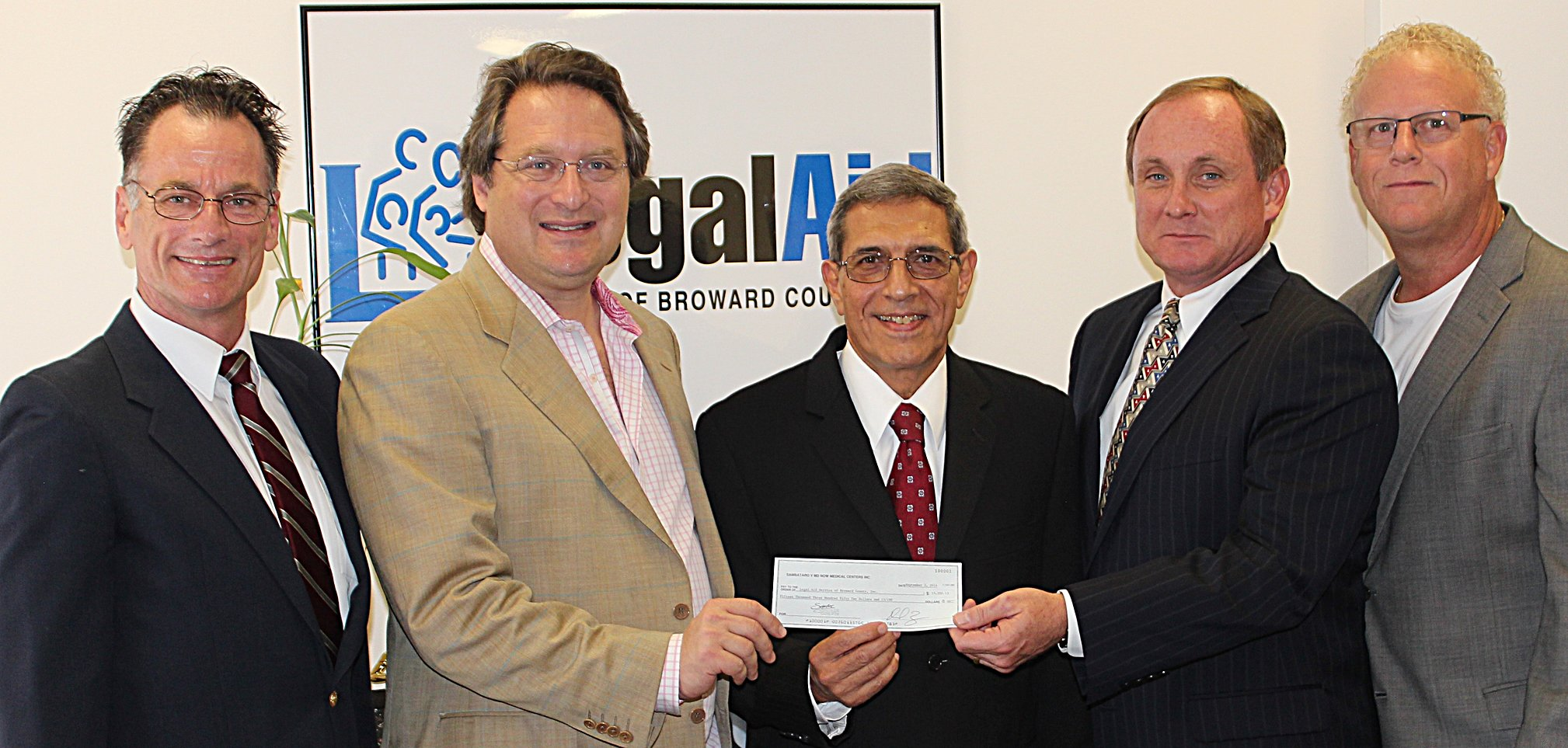 Zebersky Payne Shaw Lewenz, LLP Makes a Cy Pres Donation of the Sambataro Class Action Funds to Legal Aid Service of Broward County