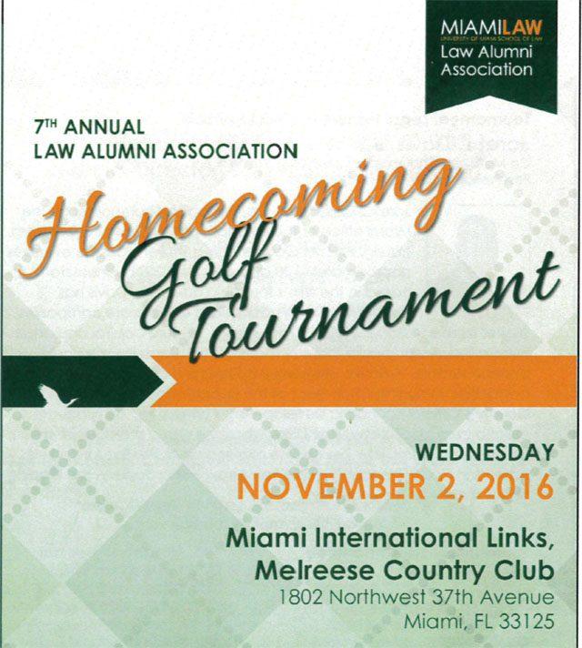 Zebersky Payne Shaw Lewenz, LLP Sponsor UM's 7th Annual Alumni Golf Tournment