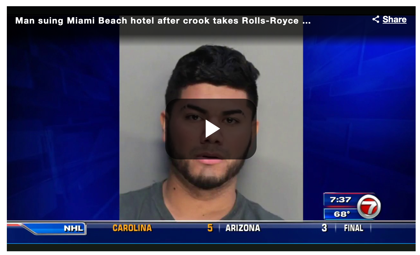 Man suing Miami Beach hotel after crook takes Rolls-Royce for alleged joyride
